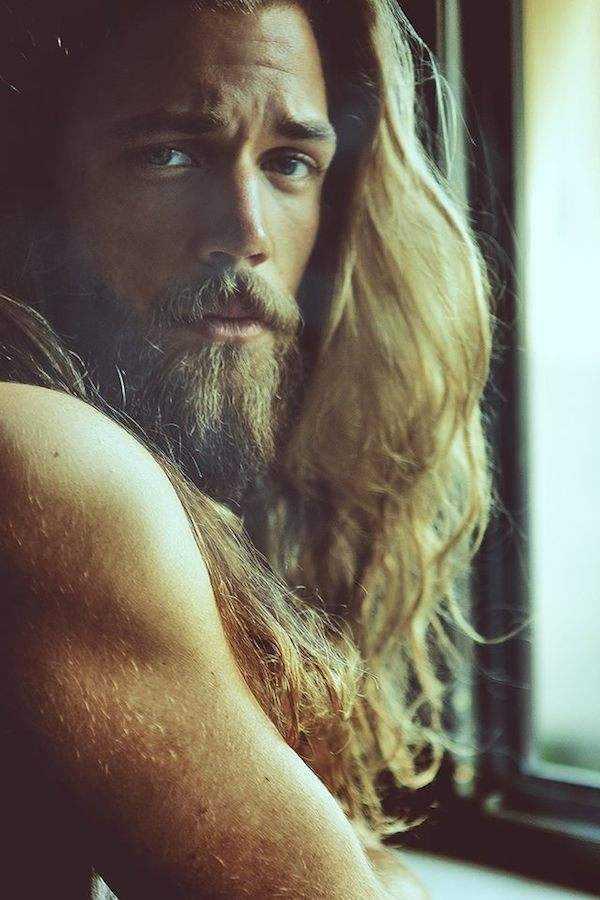 männer lange Haare