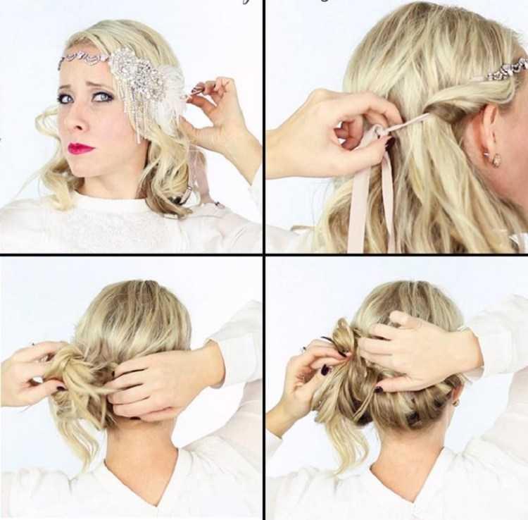 20er Frisuren Selber Machen Mottoparty Lange Haare Haarband