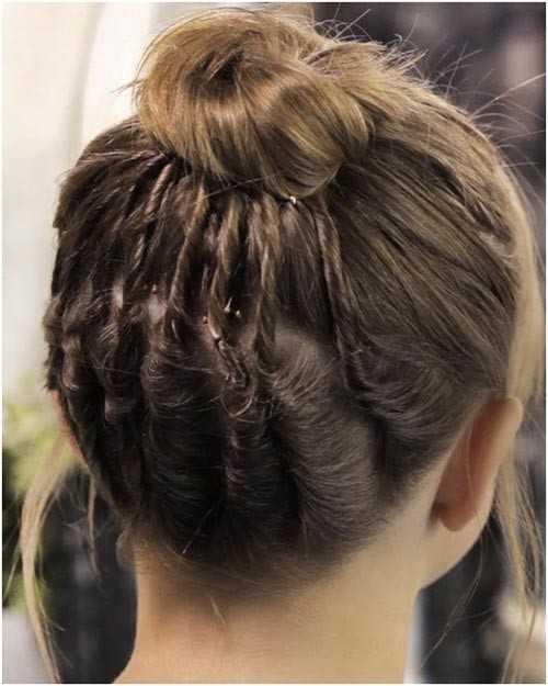 Cool Bun für kurzes Haar