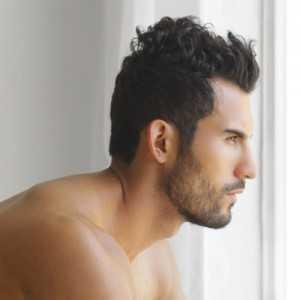 Faux Hawk für Männer krauses Haar