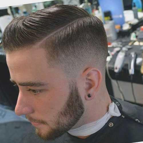 Jungs Haircuts - Low Fade mit Seitenteil