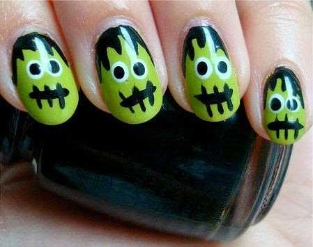 Halloween-Nagel-Kunst