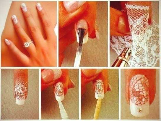 Lace Nail Design - DIY