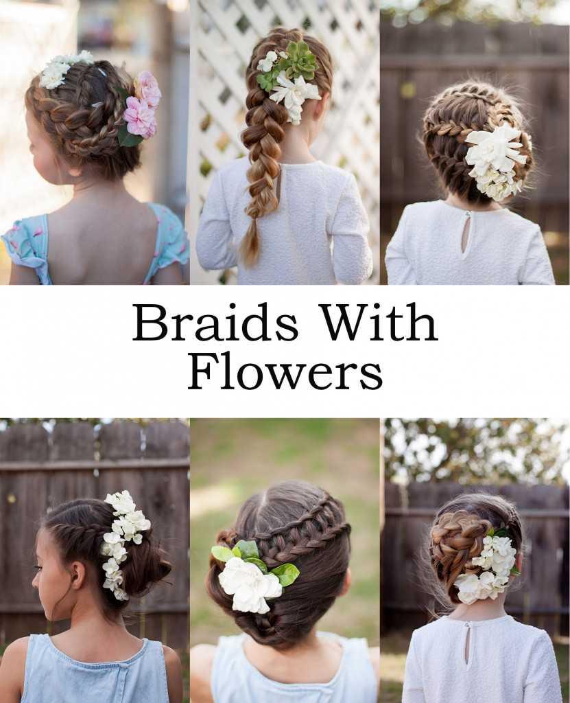 Spring Zöpfe mit frischen Blumen