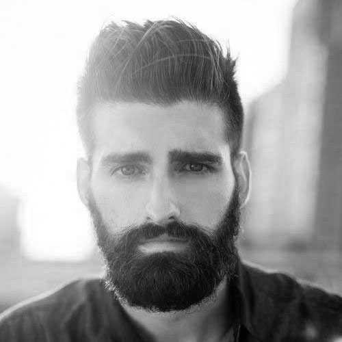 Männer mit dicken Haaren