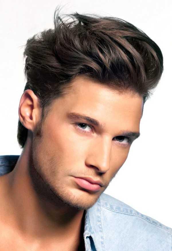 Männer wellig Kamm über Frisuren