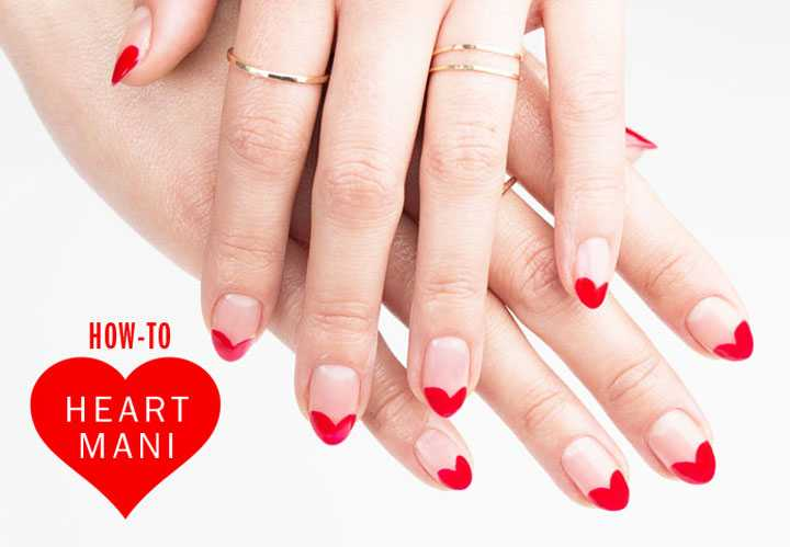 Nail Art How-To: Heart to Heart Mani