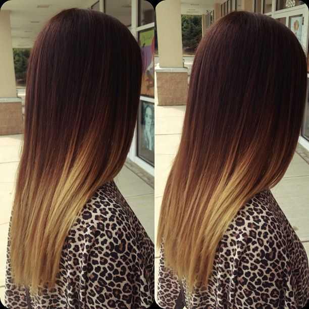 Ombre Für glattes Haar
