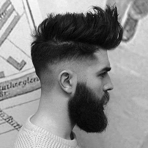 Shaved Frisuren mit Bart