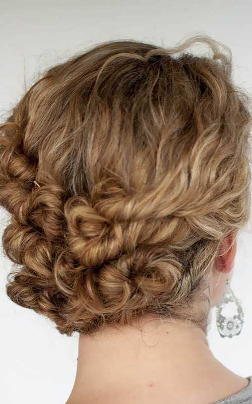 Twisted Curls in updo