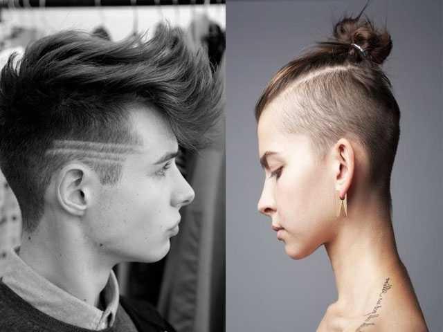 unterschnittenen Frisuren-Ideen für Männer und Frauen