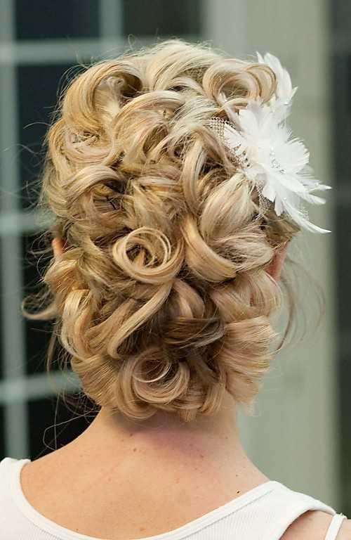 Hochzeit Curly Updo