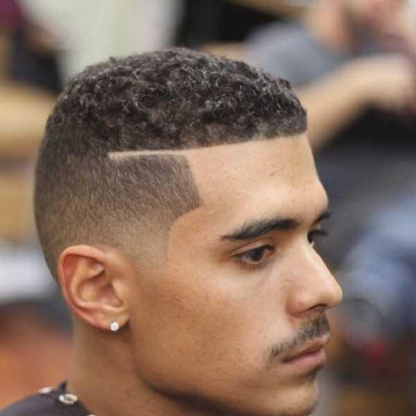 lockig verblassen haircut Männer