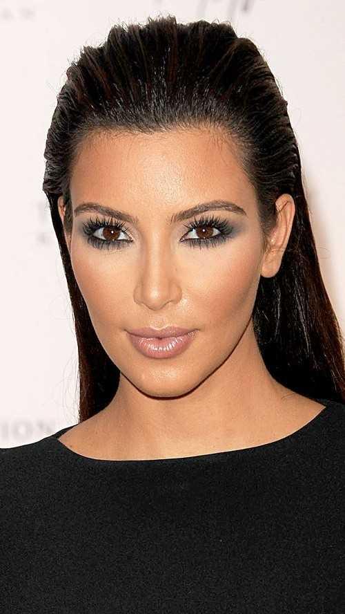 lange schlanke Frisur Kim Kardashian 2016