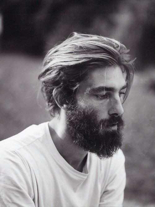 mittlerer Länge Mens Frisuren mit Bart 2016