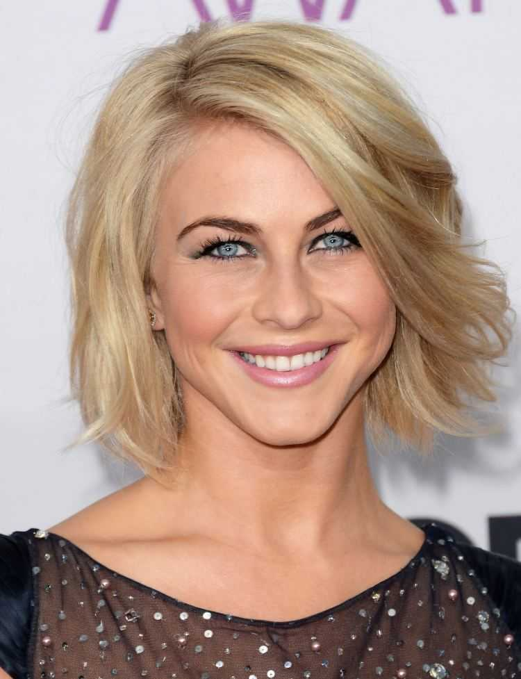 Moderne Frisuren Damen Julianne Hough Blond Bob 2 Frisuren Stil Haar