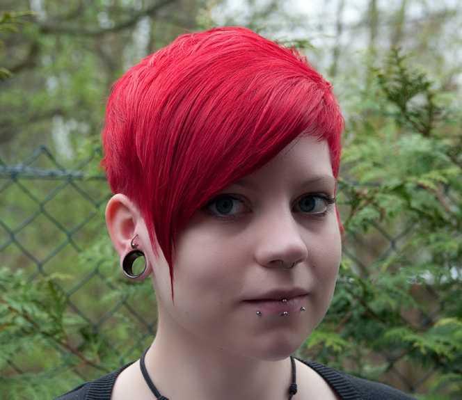 rot gefärbte haare