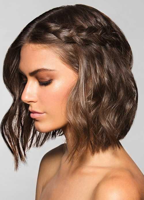 runway Frisur für kurzes Haar