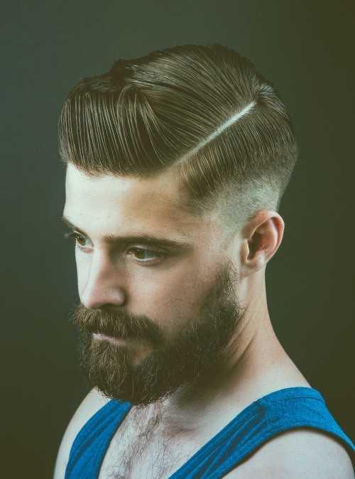 Seitenlinie Haar für Männer