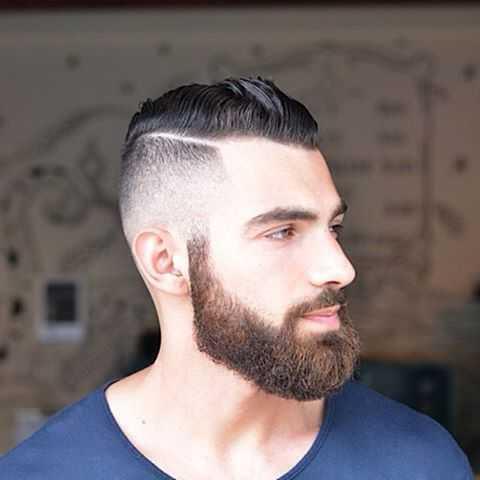 Seitenlinie Frisur