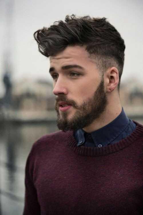 Seite rasiert Herren Frisuren mit Bart