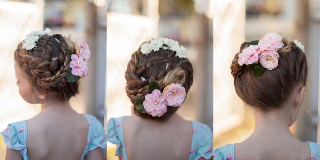 Braut updo mit Blumen