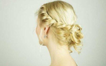 Einfache DIY prom Haarschnitt zum Besten von Mädchen mit kurzen solange bis mittleren Matte mit Schichten