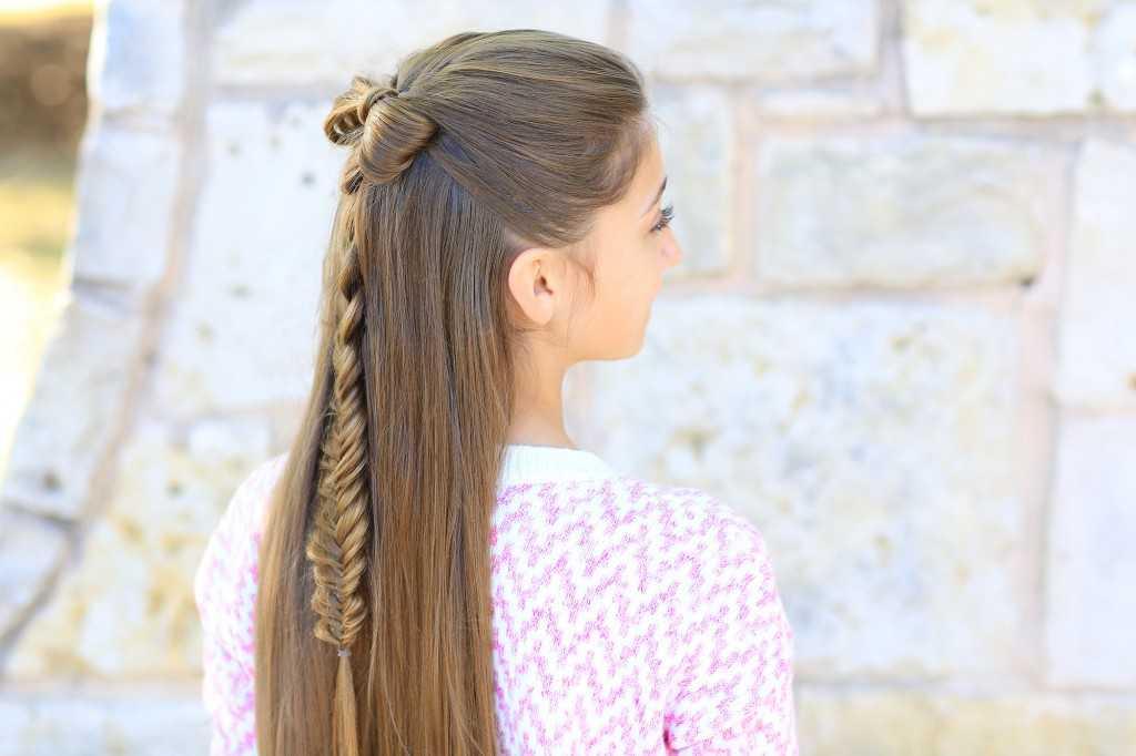 Half-Up-Bogen-Combo | Nette Mädchen-Frisuren