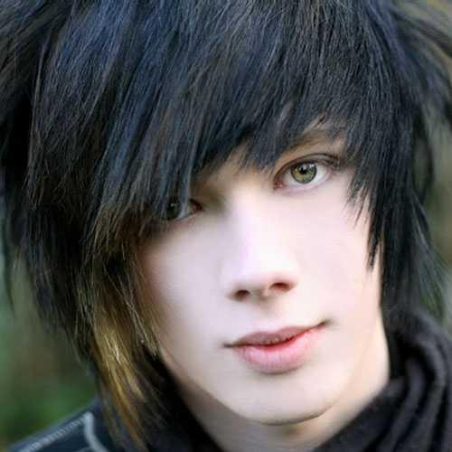 Emo Frisuren für Männer mit dicken Haaren