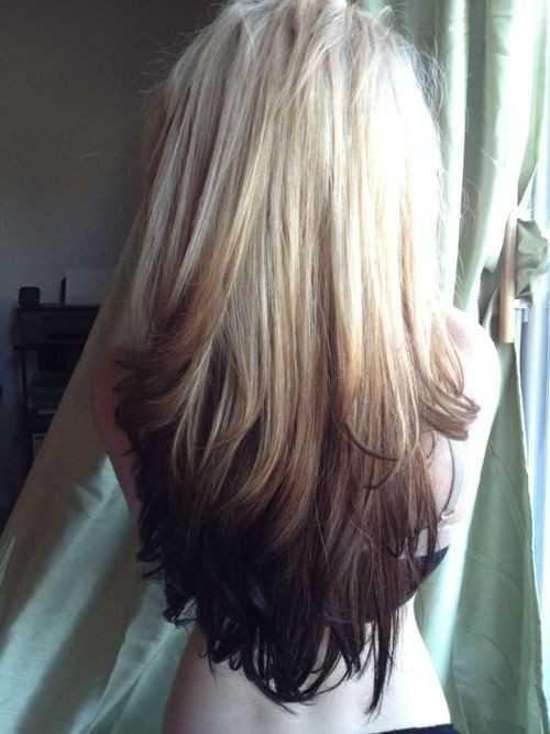 Süß-Lang-Frisur-für-Gerade-Haare-Blondine-zu-Dunkelbraun-Ombre