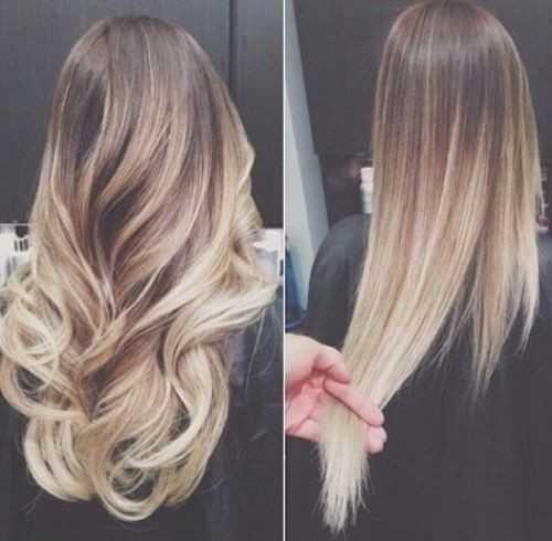 Blonde-Ombre-für-Mittelbraune Haare