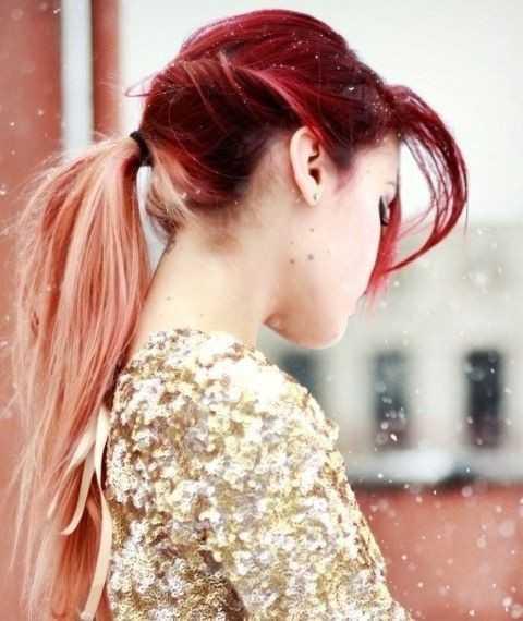 Langhaar-Trend-Cute-Ombre-Hair-for-Ponytail